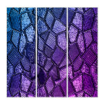 Ultra Violet Mosaic Glass Panel Wall Art