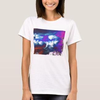 Ultra Violet Storm Sky&Trippy Trees T-Shirt