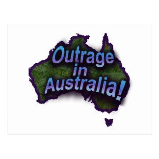¡Ultraje en Australia! Postales