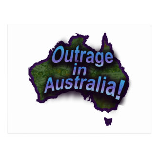 ¡Ultraje en Australia Tarjeta Postal