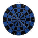 Ultramarine Blue And Black Dart Board