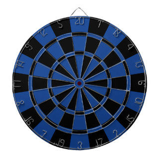 Ultramarine Blue And Black Dart Board