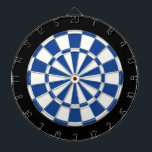 "Ultramarine Blue Black And White Dartboard<br><div class=""desc"">Ultramarine Blue Black And White Dart Board</div>"