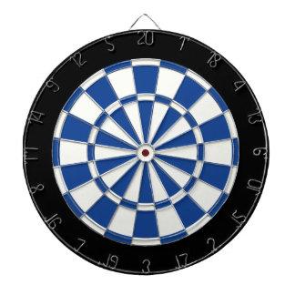 Ultramarine Blue Black And White Dartboards