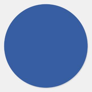 Ultramarine Blue Classic Round Sticker