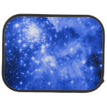 Ultramarine Blue Colored Stars Car Mat