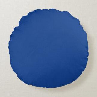 Ultramarine Blue Round Pillow