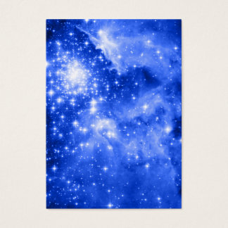 Ultramarine Blue Stars Business Card