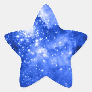 Ultramarine Blue Stars Sticker