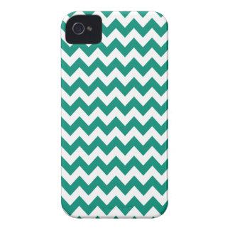 Ultramarine Green Chevron Iphone 4 or 4S Case iPhone 4 Case-Mate Cases