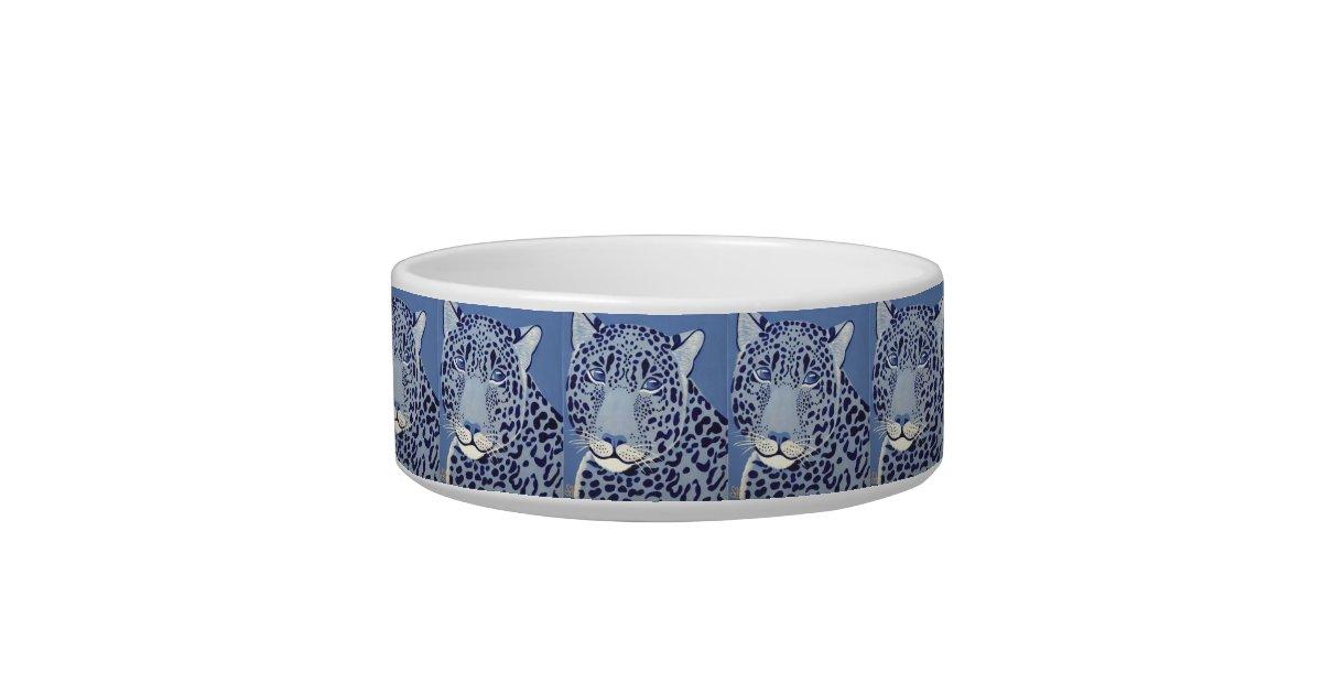 Ultramarine Jaguar Cat Bowl