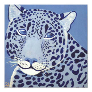 Ultramarine Jaguar Invitations