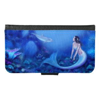 Ultramarine Mermaid Dolphin Galaxy S6 Wallet Case