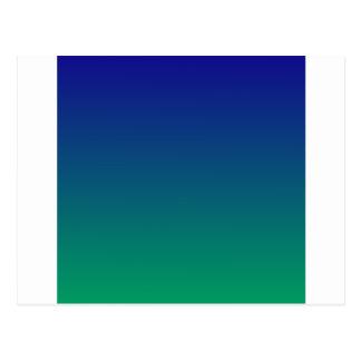 Ultramarine to Shamrock Green Horizontal Gradient Postcard