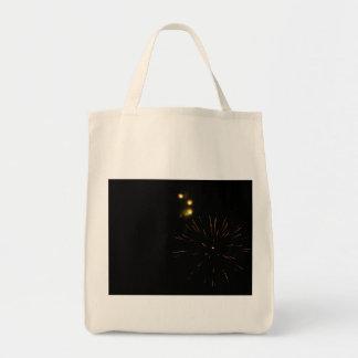 Ultramarinos abstracto de la foto de los fuegos bolsa tela para la compra