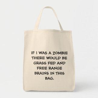 Ultramarinos del zombi bolsa tela para la compra