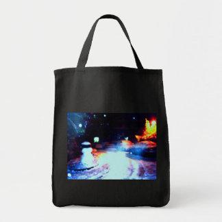 •·ultramarinos Tote♥ de la escena de la noche Neva Bolsa