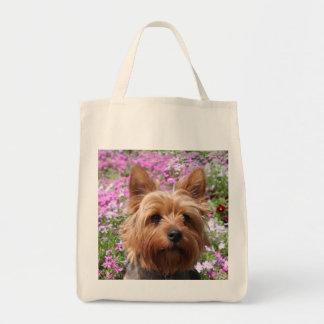 Ultramarinos Totebag del perro de perrito de Yorks Bolsas