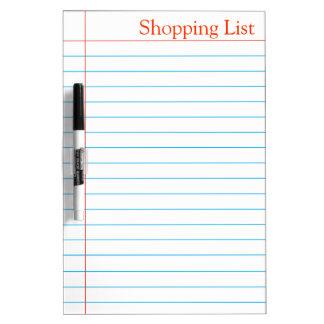 Ultramarinos Whiteboard de la lista de compras Tablero Blanco