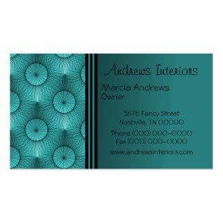Ultramodern Business Card, Dazzling Teal Business Card