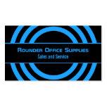 Ultramodern Half-Circled Business Card, Blue