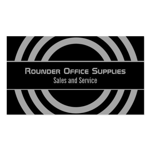 Ultramodern Half-Circled Business Card, Gray