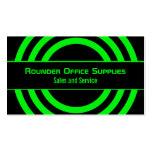 Ultramodern Half-Circled Business Card, Green