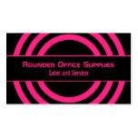 Ultramodern Half-Circled Business Card, Hot Pink