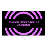 Ultramodern Half-Circled Business Card, Purple