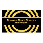 Ultramodern Half-Circled Business Card, Yellow