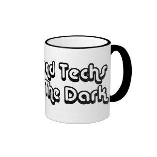 Ultrasound Techs Do It In The Dark Black 3D Logo Coffee Mug