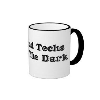 Ultrasound Techs Do It In The Dark Blue Bubble Log Mug