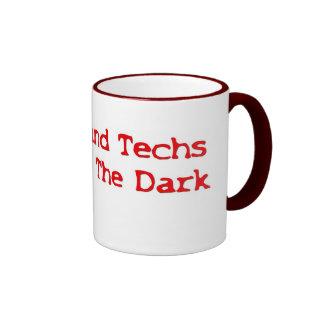 Ultrasound Techs Do It In The Dark Red Type Logo Mugs