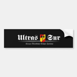 ultrassur Ultras Sur Real Madrid Bumper Sticker