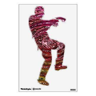 ultraviolent zombie wall decal