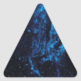 Ultraviolet image of the Cygnus Loop Nebula crop Triangle Sticker