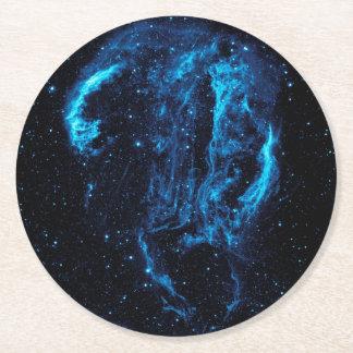 Ultraviolet image of the Cygnus Loop Nebula Round Paper Coaster