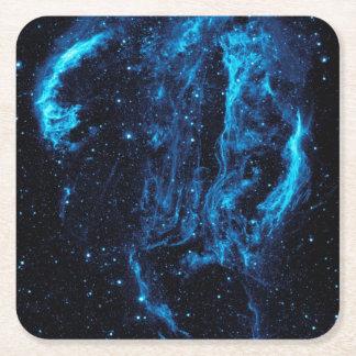 Ultraviolet image of the Cygnus Loop Nebula Square Paper Coaster