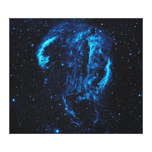 Ultraviolet Image of the Cygnus Loop Nebula W78 Stretched Canvas Print