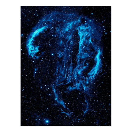 Ultraviolet Image of the Cygnus Loop Nebula W78 Postcard