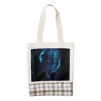 Ultraviolet image of the Cygnus Loop Nebula Zazzle HEART Tote Bag