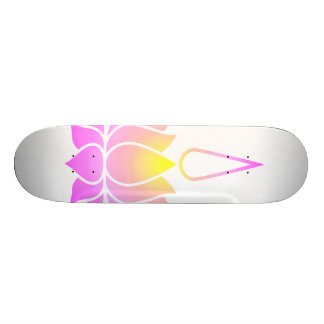 Ultraviolet Lotus Skateboard
