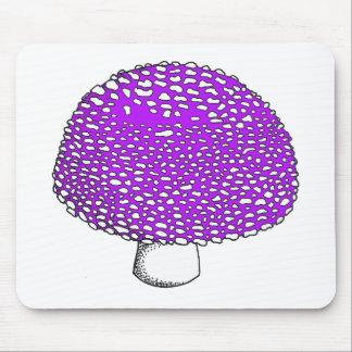 Ultraviolet Mushroom Fungus Shroom Mouse Pad