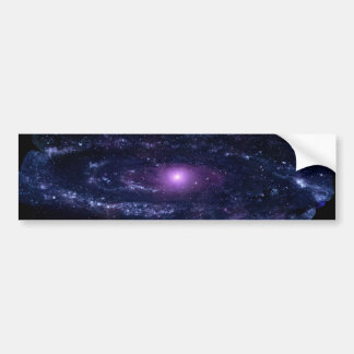 Ultraviolet Purple Andromeda Galaxy Space Bumper Sticker