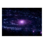Ultraviolet Purple Andromeda Galaxy Space Business Card Templates