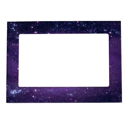 Ultraviolet Purple Andromeda Galaxy Space Photo Frame