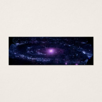 Ultraviolet Purple Andromeda Galaxy Space Mini Business Card