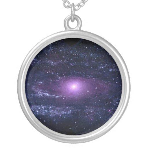 Ultraviolet Purple Andromeda Galaxy Space Pendant