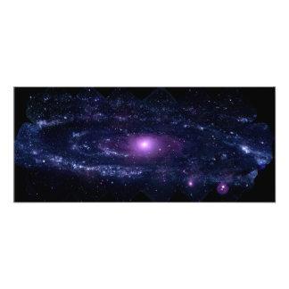 Ultraviolet Purple Andromeda Galaxy Space Photo Print