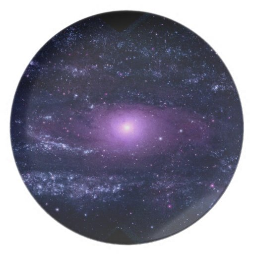 Ultraviolet Purple Andromeda Galaxy Space Plate